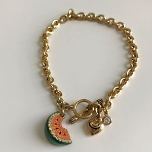 Juicy Couture Watermelon Charm Toggle Bracelet